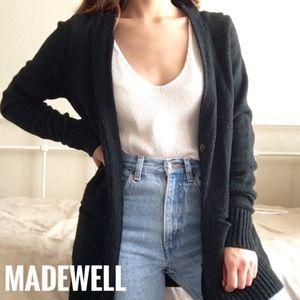 MADEWELL • Gray Wool Favorite Cardigan Sz Small